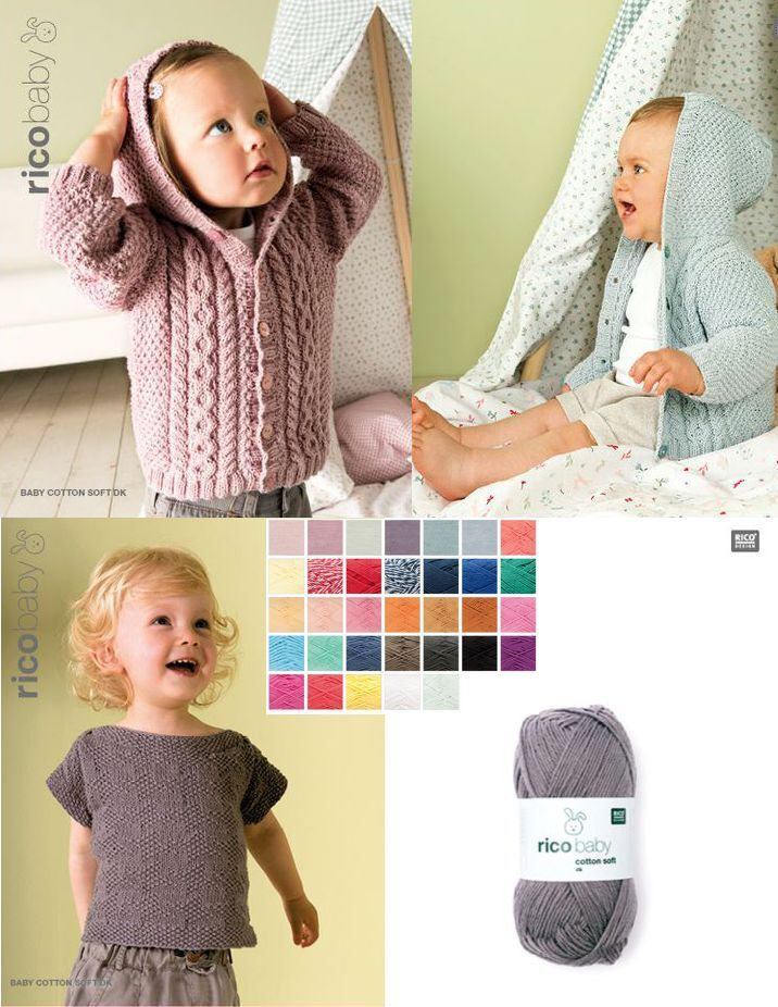 Rico baby cotton soft dk 50 g Wolle -Babywolle-Baumwolle / Acryl  -  4.98€/100gr