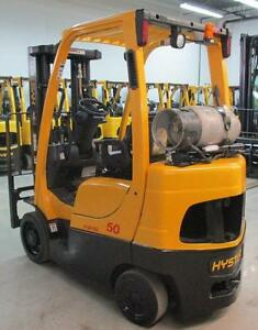 2007 HYSTER FORKLIFT 5000LB CAPACITY 3STAGE MAST OUT DOOR&INDOOR FORK LIFT,LOWEST PRICE GUARANTEE ON ANY TOW MOTOR!!!!!!