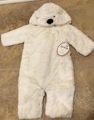 NEW Pottery Barn Kids BABY POLAR BEAR 0-6 Months Costume WHITE](Baby Polar Bear Costume)