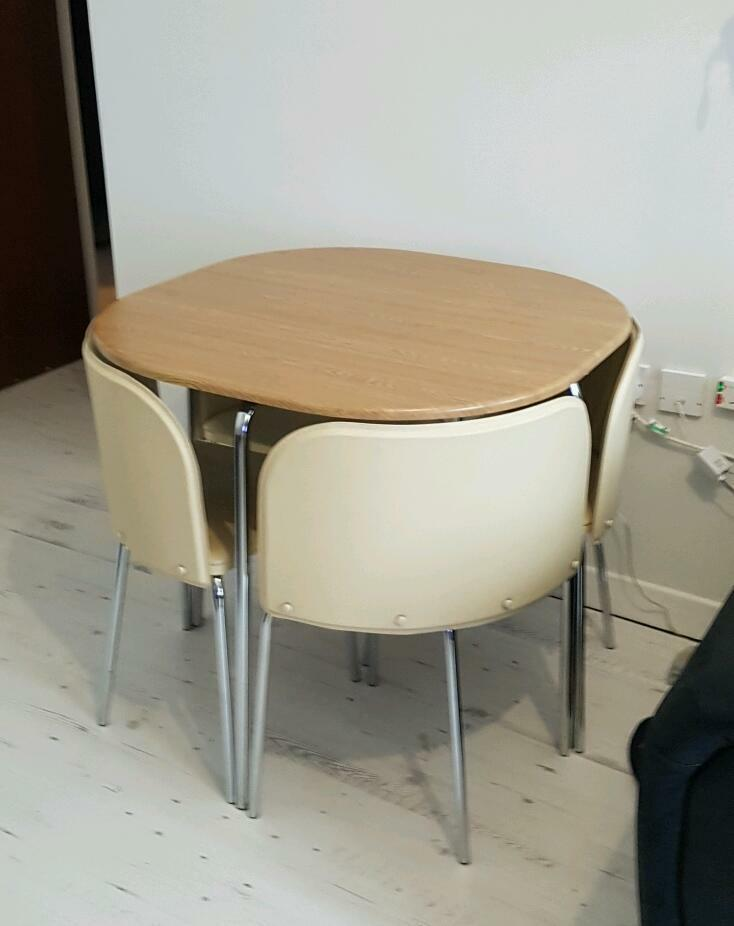 Dining Table And 4 Cream Chairs In Swansea Gumtree