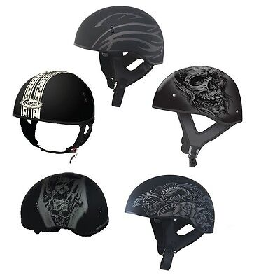 GMax GM65 Naked Graphic Half Helmet with Sun Shield DOT Certified ALL SIZES