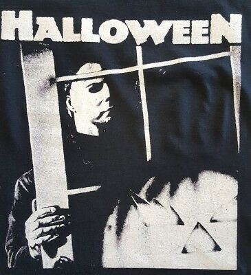 HALLOWEEN MICHAEL MYERS CULT CLASSIC HORROR FILM MOVIE BLACK CANVAS BACK PATCH - Halloween Film Michael