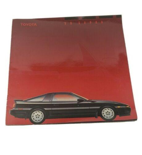 1989 Toyota Supra Large Catalog Sales Brochure Excellent Original