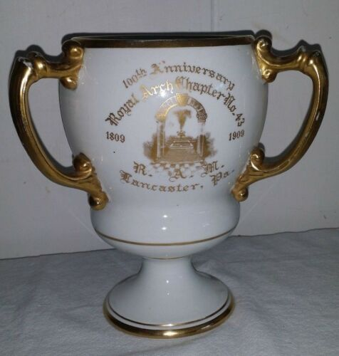 Gorgeous Antique 1909 Masonic Loving Cup ROYAL ARCH CHAPTER 43 LANCASTER no2
