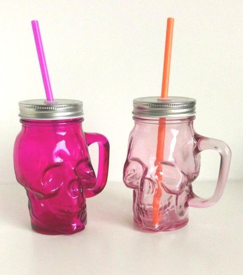 CACTUS SHAPED MASON DRINKING JAR WITH LID /& STRAW GLASSWARE KITCHENWARE NOVELTY