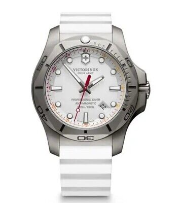 Victorinox I.N.O.X. Pro Diver 45 mm Grey Titanium Case with White Rubber...
