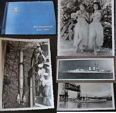 Altes Fotoalbum Kreuzer Emden Auslandsreise 1935/36 mit 185 Fotos