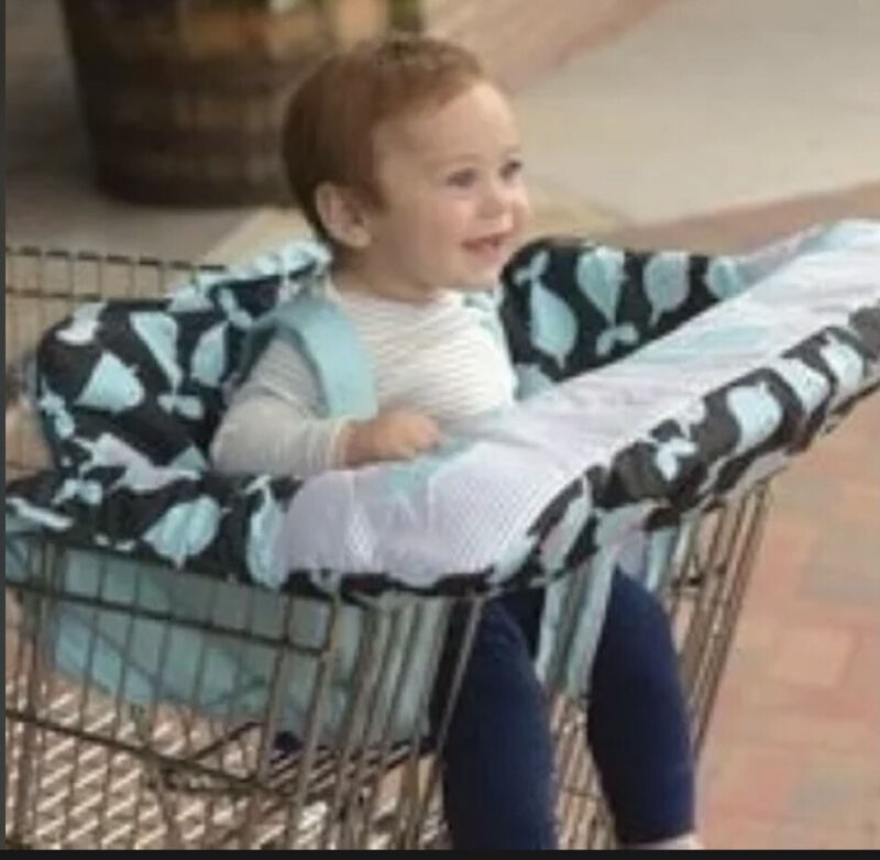 Go by Goldbug Narwhals Shopping Cart High Chair Cover NEW Missing Package.