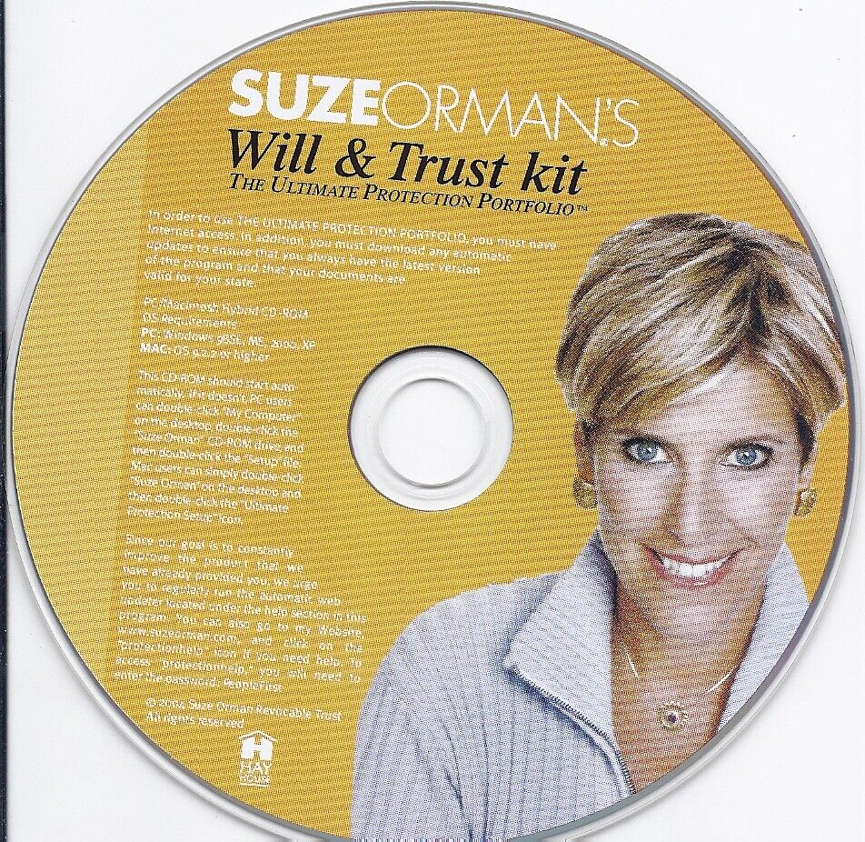 Suze Orman s Will And Trust Kit CD - $49.99