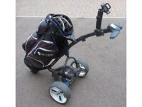 Motocaddy S3 Pro with club bag, 2 batteries (18H) , charger, umbrella & GPS holder & a carry bag