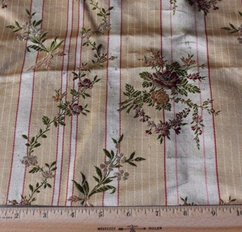 Exquisite French Antique 18thC c1760-1780 Home Silk Brocade Yardage Fabric~Roses
