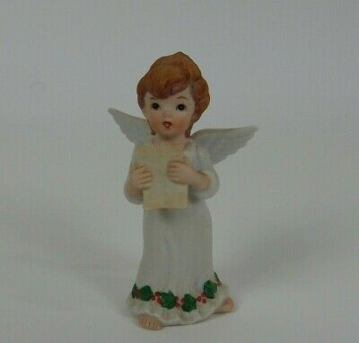 1983 Lefton China Christmas Angel Singing Hand Painted 00055 ()