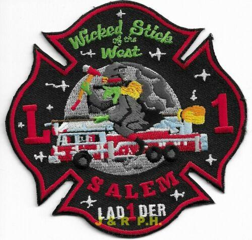 "Salem  Ladder - 1  ""Wicked Stick of West"", MA  (4"" x 4"" size) fire patch"