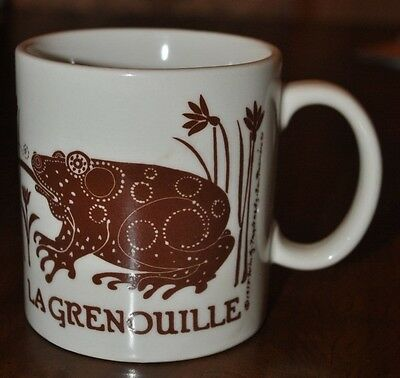 VTG 1978 TAYLOR & NG Brown LA  GRENOUILLE Coffee Tea Cup Mug  JAPAN Frog