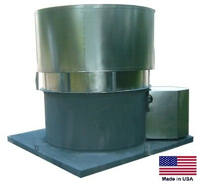 Roof Ventilator Exhaust Fan - 24 - 2 Hp - 115230v - 1 Ph - 9760 Cfm Oas