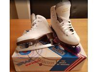 Girls Graf 500 Ice Skates - White (EU31/UK 12.5)