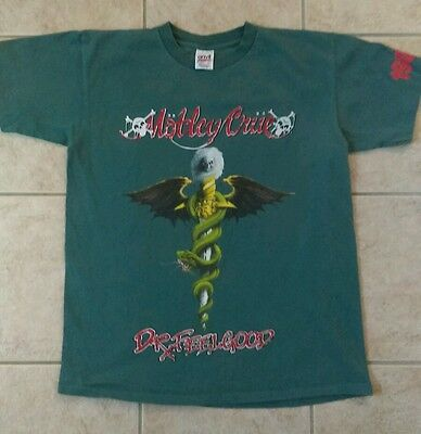 MOTLEY CRUE Dr. Feelgood Tour 1989 Vintage t-shirt Size L - EXTREMELY RARE