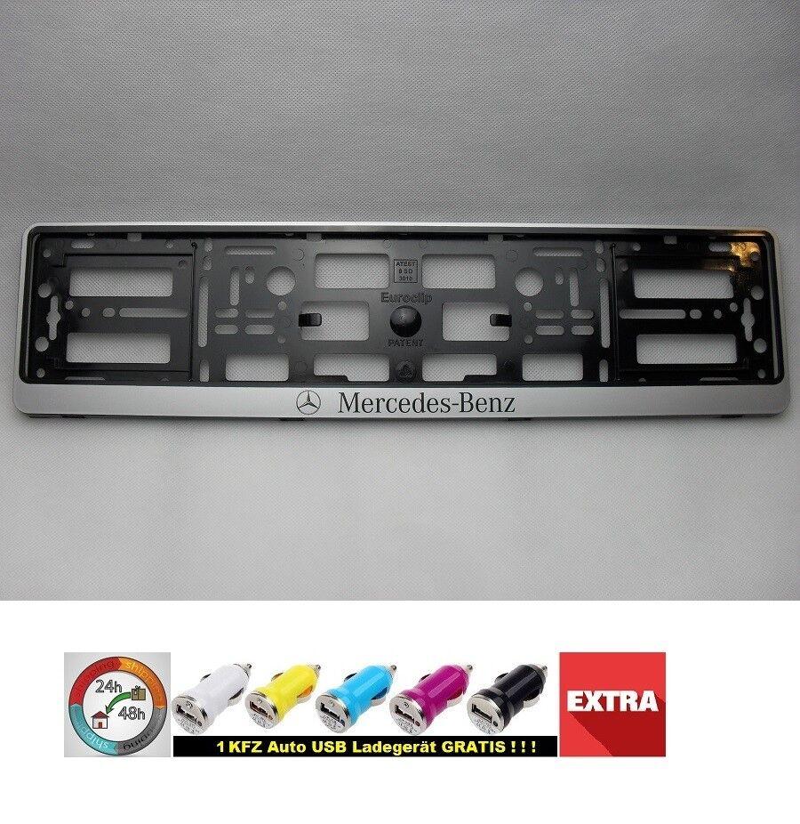 Simple Fix 2x Rahmenlos KFZ Kennzeichenhalter