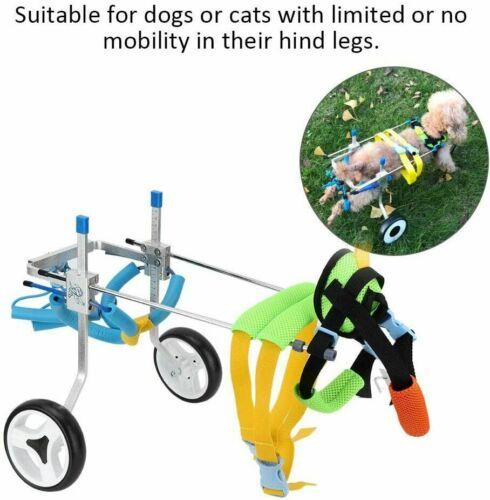 Light Aluminum Pet/Dog Wheelchair XS for Handicapped Hind Leg Open Box