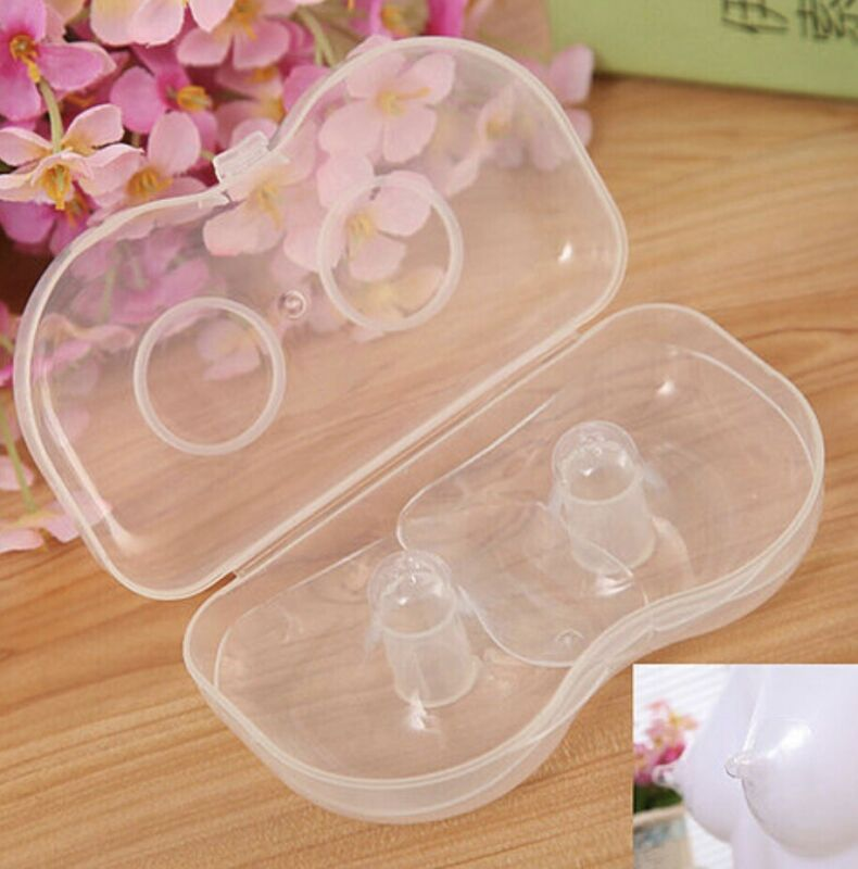 Nipple Shield Silicone Protector Breastfeeding Nipple Protect Cover 1 Pair