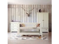 Mamas and papas nursery furniture - Cot/Cotbed, drawers with changer & tall wardrobe