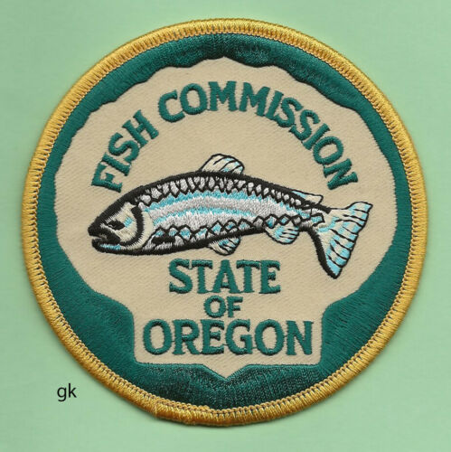 OREGON STATE FISH COMMISSION POLICE SHOULDER PATCH