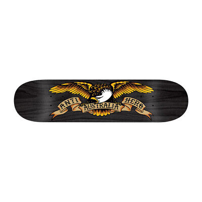 "Anti Hero Skateboard Deck OZ Eagle 8.5"" Black Limitied Issue Antihero FREE GRIP"
