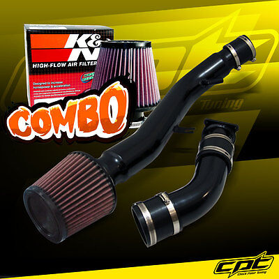 03-07 G35 3.5L V6 AT Black Cold Air Intake + K&N Air Filter