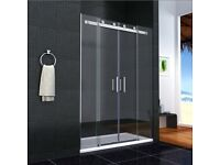 1400 glass shower sliding door