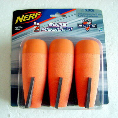 New NERF N-Strike Elite Series Mega Missiles Bombs 3 Pack Demolisher Hasbro 2014