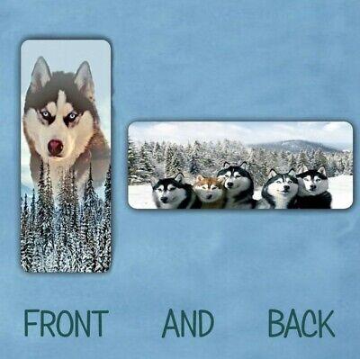 SIBERIAN HUSKY DOG ANIMAL LAMINATED BOOKMARK