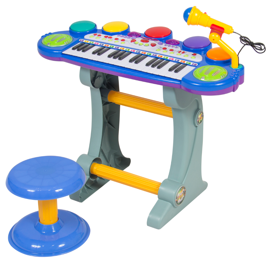 Piano For Toddlers Keyboard Kid 3 Year Old Music Toy Stool E