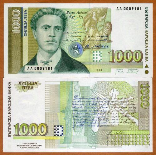 Bulgaria, 1000 Leva, 1994, P-105, UNC