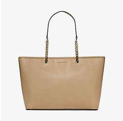 NWT Michael Kors Handbag Jet Set Travel Medium Saffiano Leather Tote $298 Bisque