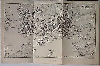 Plymouth, Devonport & Stonehouse 1878 Antique Map, Bartholomew , A C Black