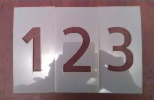 Allerta Number Set Stencil 0-9 & two dashes - Parking lot and Arts & Crafts