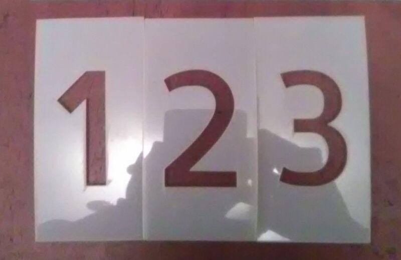 1 inch Allerta Number Set Stencil 0-9 & dash symbol