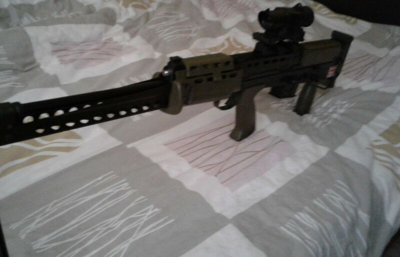 Vintage L86 LSW made by KSK Japan airsoft gas rifle