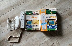 Wii play with remote and nunchuck
