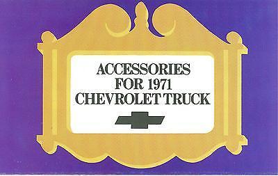 Chevrolet Truck Accessories Brochure - 1971 CHEVROLET TRUCK  GENUINE ACCESSORIES BROCHURE