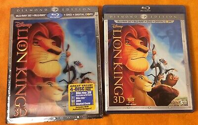 The Lion King Blu-ray 3D And DVD 4-Disc Set Diamond (The Lion King 3d Diamond Edition Blu Ray)