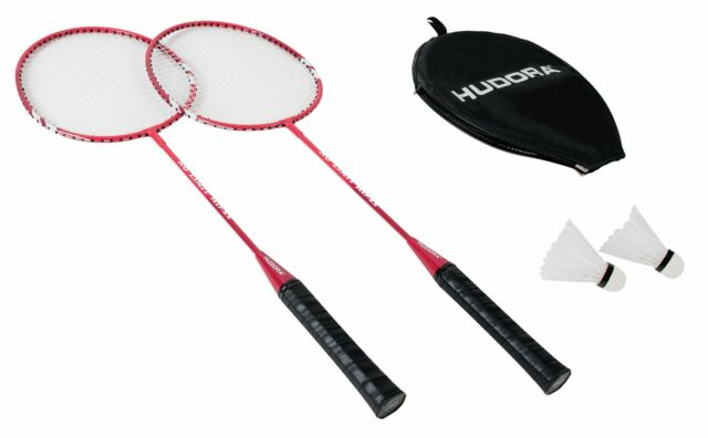 Hudora Badmintonset No Limit 2 Schläger 2 Federbälle mit Stahlrahmen Tennis
