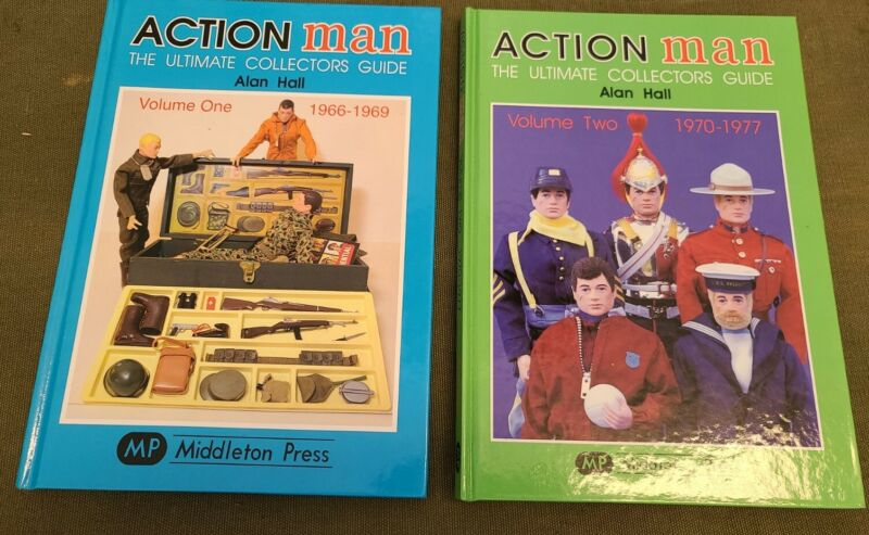 VINTAGE ACTION MAN BOOK ULTIMATE COLLECTORS GUIDE VOLUME 1& 2 1966-1970-1977,