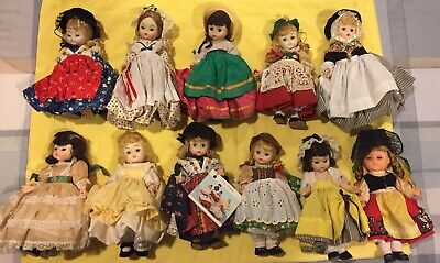 MADAME ALEXANDER LITTLE WOMEN DOLLS LOT OF 11-8 INCHES TALL-1976-MADE IN U.S.A.