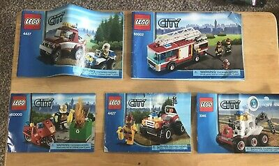 LEGO City 6 Set lot - 60000,60002,60006, 3365,4427,4437 Complete w/ minifigures
