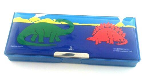 Vintage Sanrio Dinosaur T Rex Pencil Case Box 1986 Japan