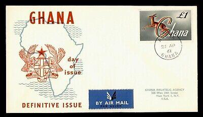 1961 GHANA FDC DEFINITIVE
