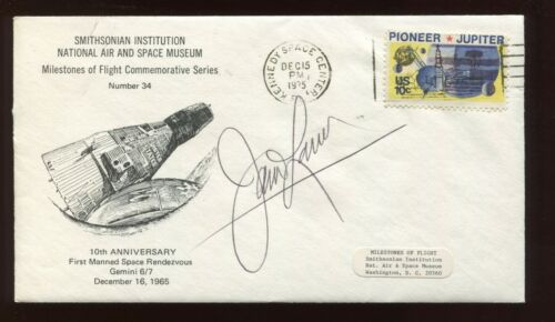 Astronaut Jim Lovell Signed 10th ANNIVERSARY Smithsonian Commemorative Cover