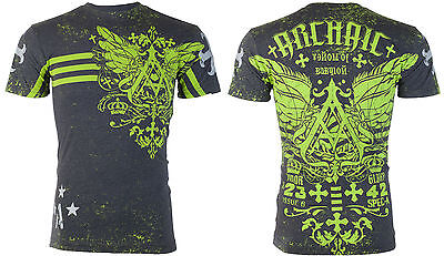 ARCHAIC by AFFLICTION Mens T-Shirt DRONE Tattoo Biker UFC American Fighter $40