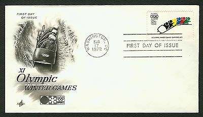 #1461 8c Bobsled, Art Craft FDC **ANY 4=FREE SHIPPING**